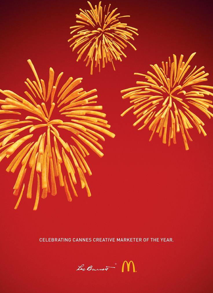 Love seeing things I would have never thought of, brilliant. Leo Burnett / McDonald's: Fryworks