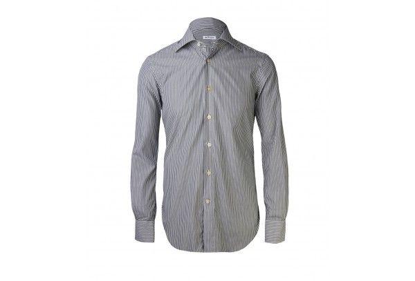 Men's Black & White Striped Cotton Pattern Vest zMBOpMW