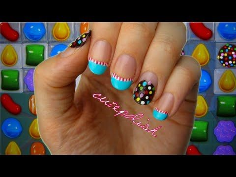 Addicted to the famous app Candy Crush? Well here's a nail tutorial!