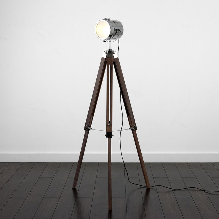Fernandez Marine Dark Wood Floor Lamp Iconic Lights