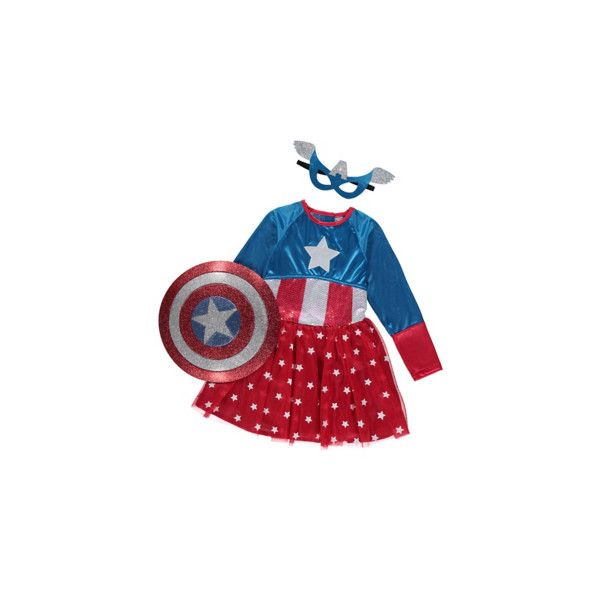 George Marvel Universe American Dream Girl Fancy Dress Costume ($18) ❤ liked on Polyvore featuring blue