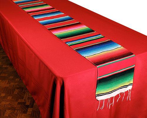 Cinco de Mayo Decorations Woven Serape Table Runner Image