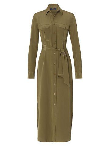 Polo Ralph Lauren Silk Crepe Shirtdress - Polo Ralph Lauren Shop All - Ralph Lauren UK