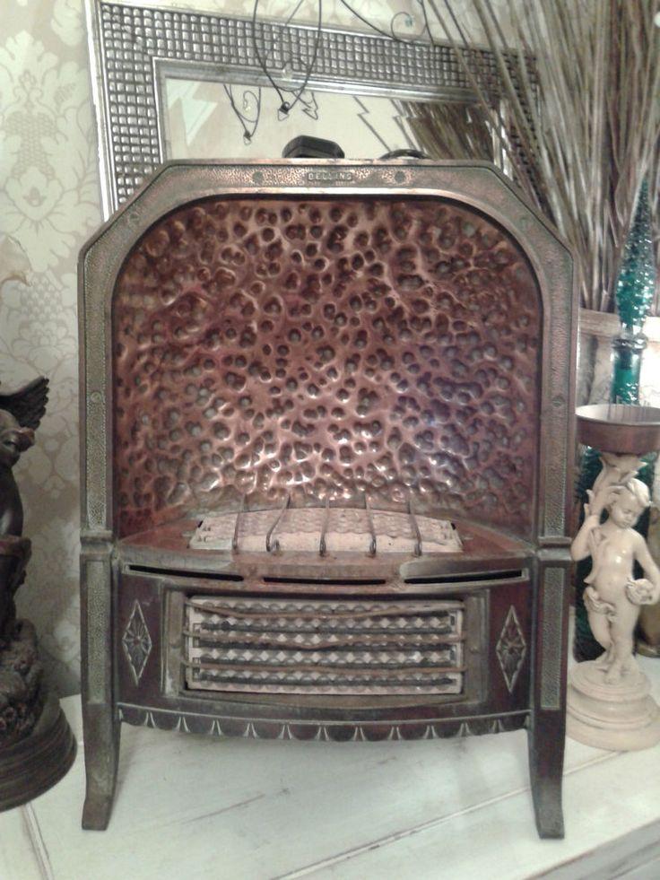 Rare Art Deco Belling Antique Copper Newlyn Electric Fire
