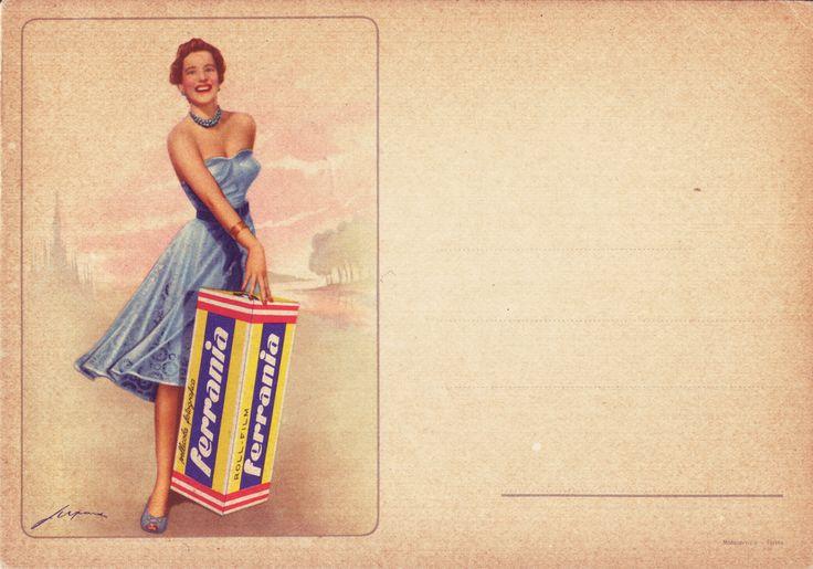 1940s Ferrania postcard