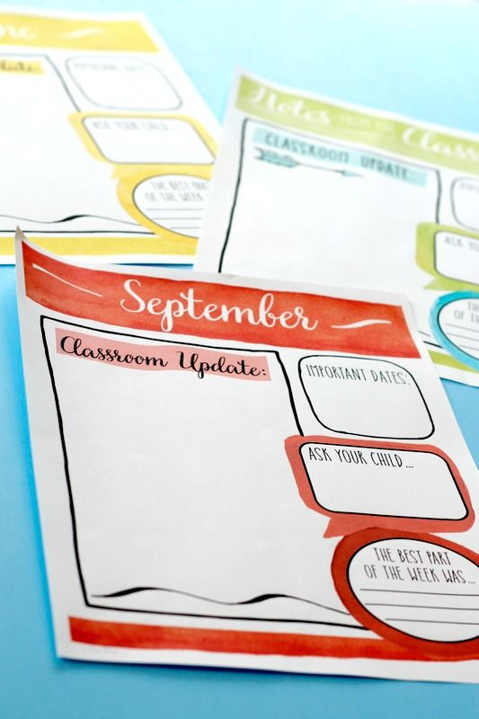 Classroom newsletter templates watercolor style easy for Mailchimp calendar template