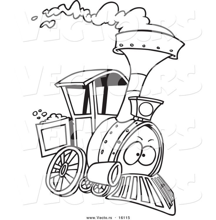 Steam Train Dream Train Coloring Pages