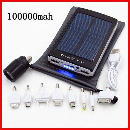 100000 мАч с солнечной батареей