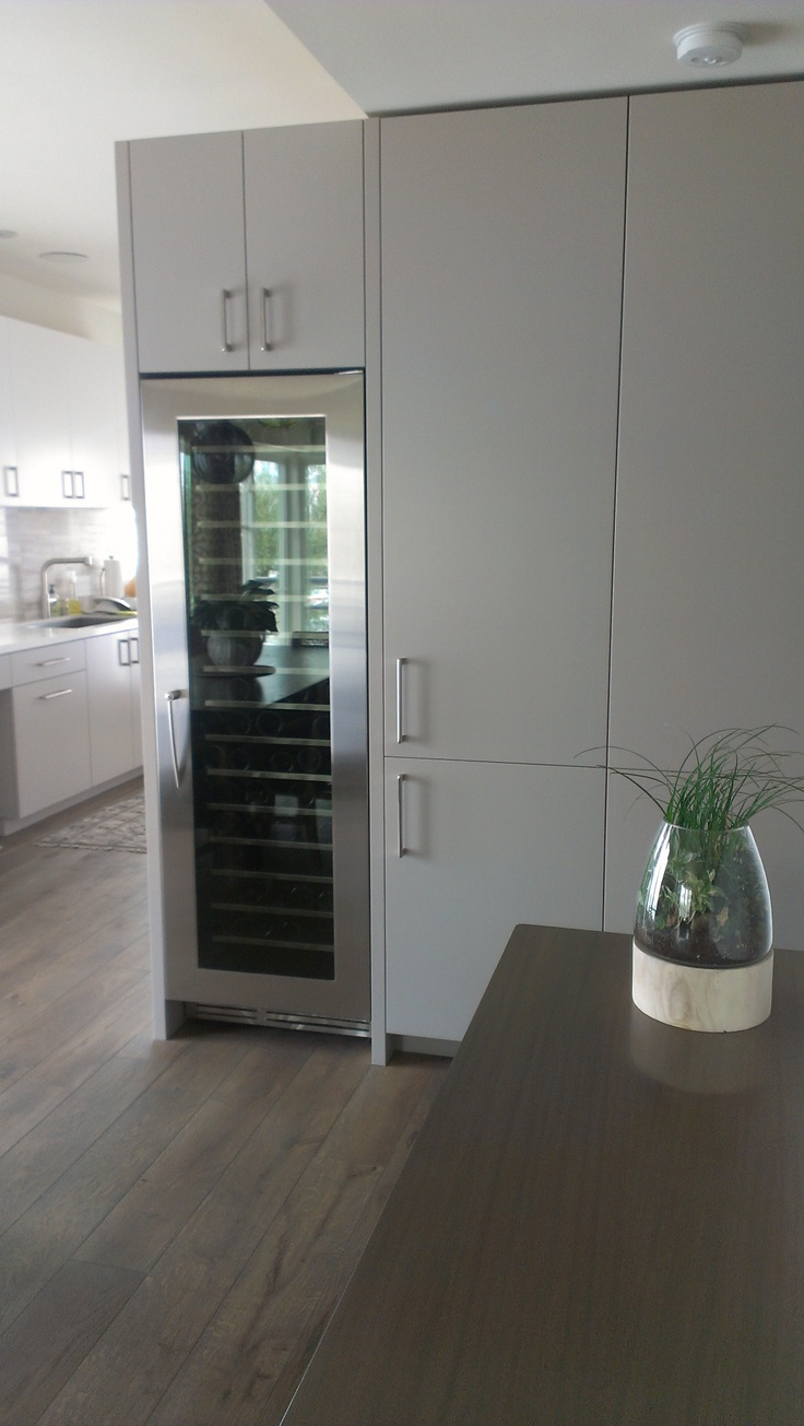 Cavavin Majestika built-in wine cabinets as seen in home installation Los Angeles, California. 171 Bottle capacity. Contact us for details.