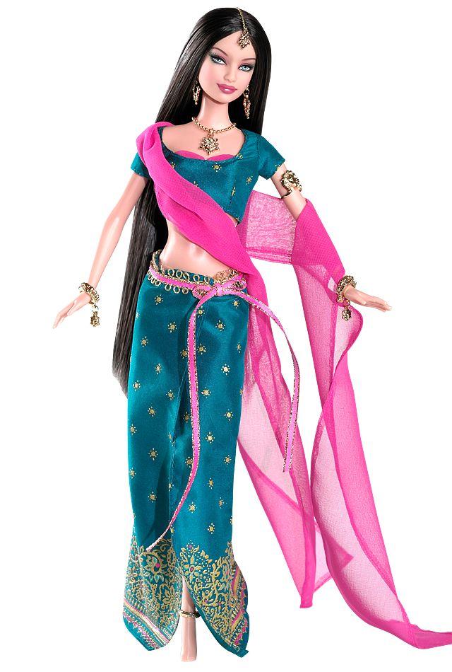 Diwali ™ Barbie ® doll - Festas da coleção do mundo - (2006) Etiqueta rosa.