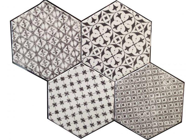 Image issue du site Web http://www.carrelage-et-salle-de-bains.com/p-127183_3-hexagon-marrakech-negro-mosaico-15x15-cm-carrelage-hexagonal-de-cuisine-au-bords-irreguliers.jpg