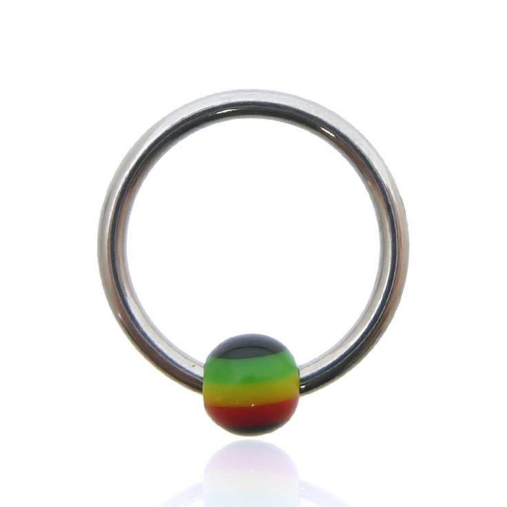 Piercing anneau boule clip rasta