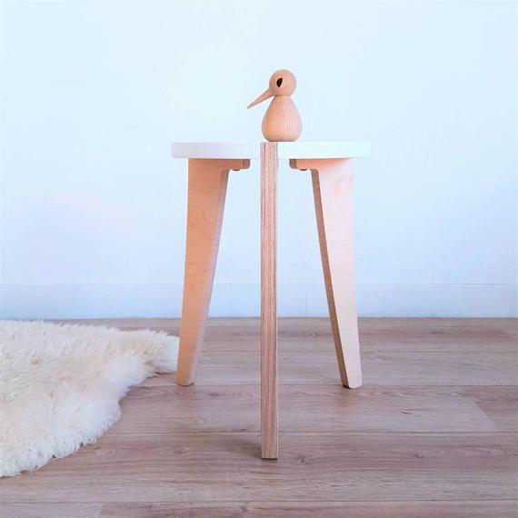 17 meilleures id es propos de tabouret bois sur - Construire une table de chevet ...