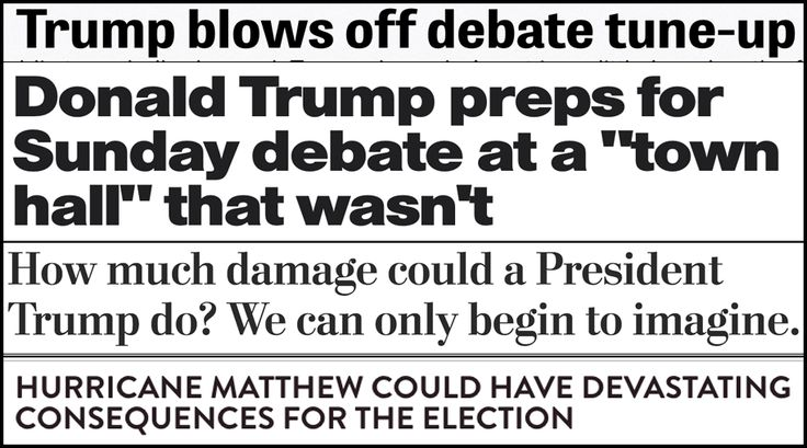 Donald Trump held a town hall yesterday —a transparent attempt to do some prep before his town hall style debate with Hillary Clinton. It didn't turn out so well. Shane Goldmacher at POLITICO summarizes the disaster:      This was not the debate...