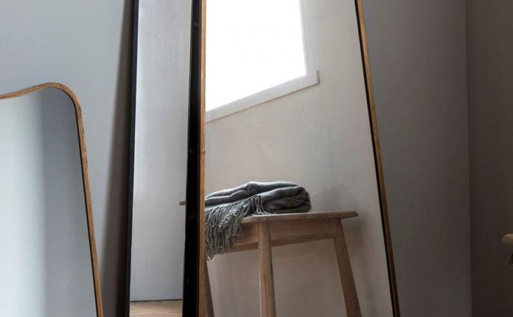 Trosa Full Length Leaner Mirror · Black