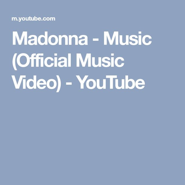 Madonna - Music (Official Music Video) - YouTube
