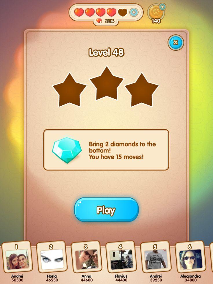 Play level Jelly Splash w friend scores