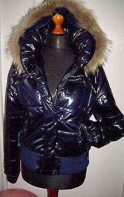 Jacke XL ECHT FELL Damen NEU Damenjacke PLüSCH Lack Lackjacke Winter Steppjacke