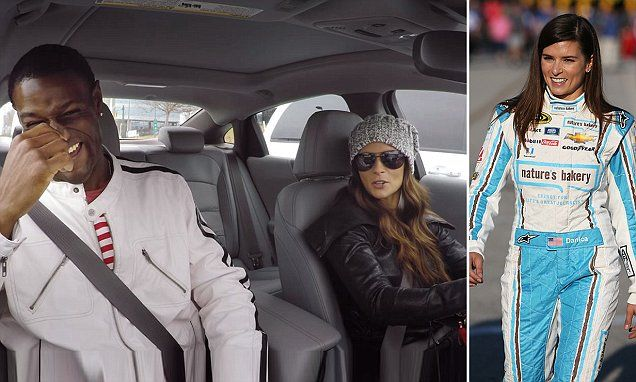 Danica Patrick goes undercover as Lyft driver and races other cars #DailyMail