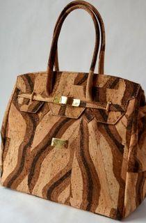 Kortica Brooklyn Cork Bag in Tiger Bengal Pattern see details below