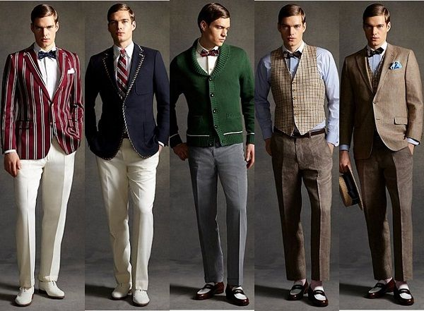 A fresh insight to a classic 20's construction. men's fashion.