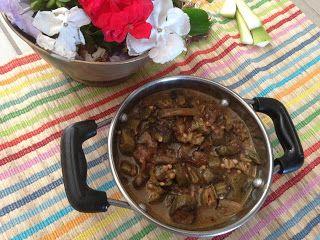 vegfood: Vendakkai mandi/ Okra fry in tamarind sauce