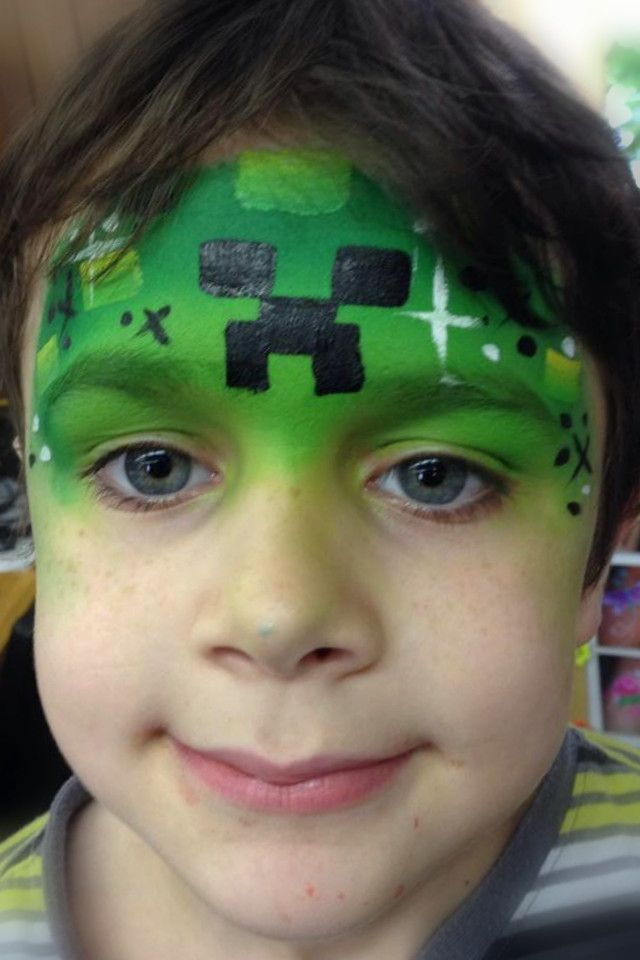 "Minecraft ""Creeper"" Design- Smiley Faces by Jo (August 2014)"