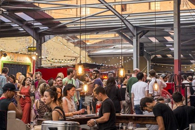 London has tons of outdoor food markets if you're looking for a place to eat that has a lot of options!