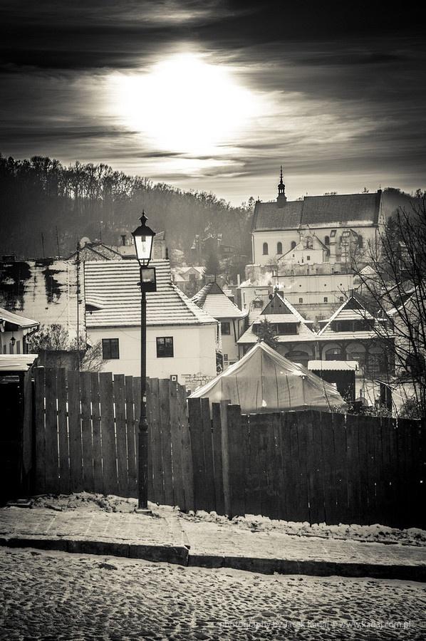 Sundown over Kazimierz Dolny in Poland