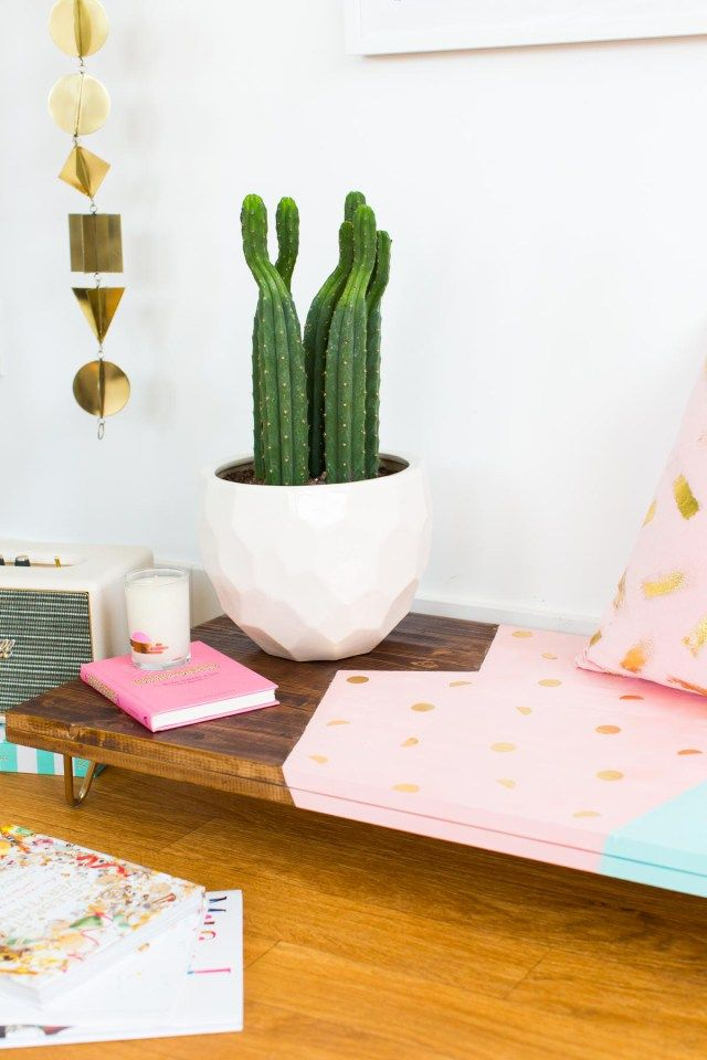 An Abstract DIY Modern Low Bench