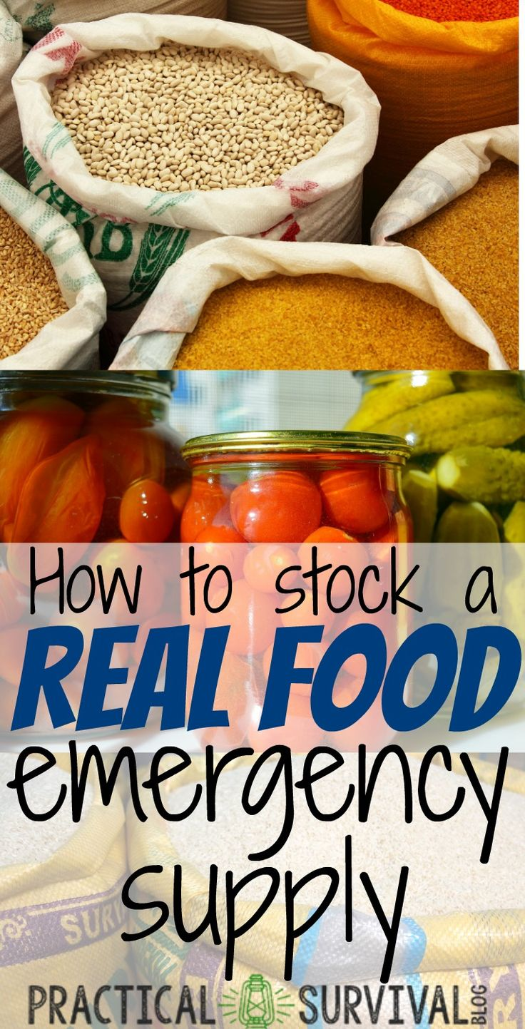 good info on stocking a real food emergency food supply.