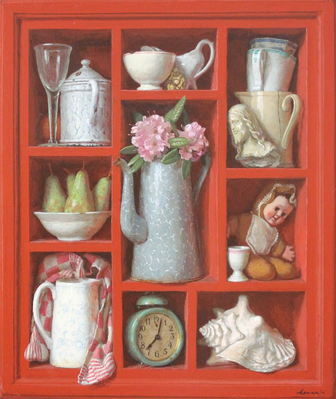 Kenne Paintings - Kenne Gregoire, Dutch contemporary artist - Here hyper-realism