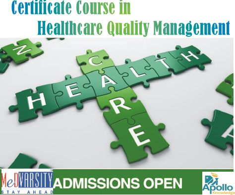 The Medvarsity offers Certificate Course in Healthcare Quality Management is a 6 months online course  which provides UGC recognized Certificate by Apollo Hospitals and Martin Luther Christian University. #medicalCourses #Diploma
