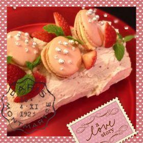 「☆きらきらマカロンのブッシュドノエル☆」alohahana | お菓子・パンのレシピや作り方【corecle*コレクル】