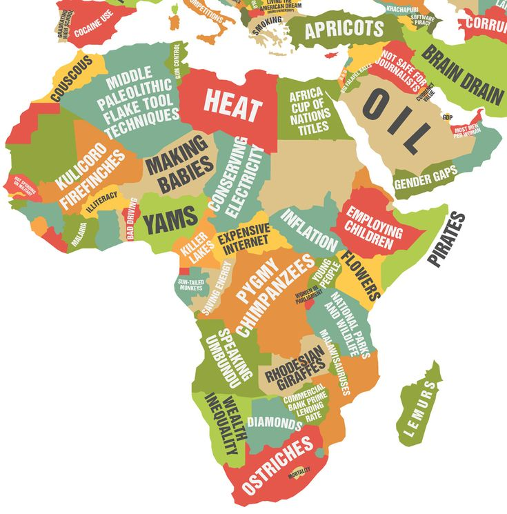 Africa and the Middle East.