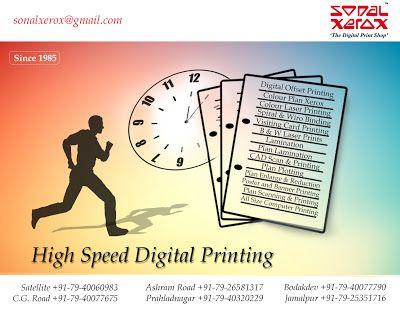 Sonal Xerox Digital Print Services: High Speed Digital Printing