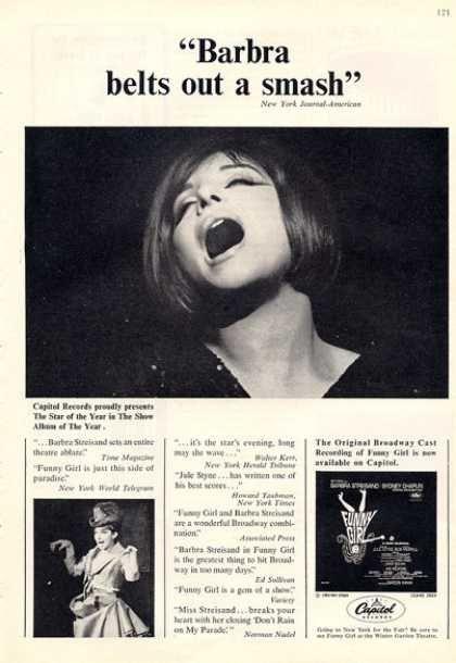 Capitol Records Barbra Streisand Funny Girl (1964)
