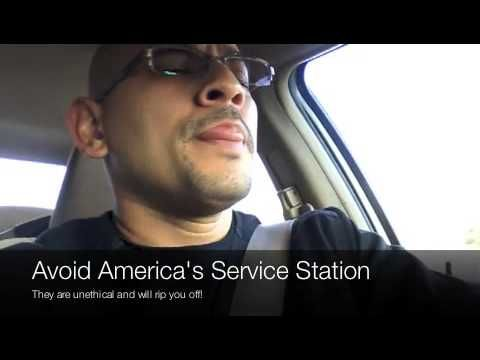 https://www.youtube.com/watch?v=AYQEvDwXO0E  Woodstock GA Auto Repair  If you live in Woodstock GA and are looking for places to get an oil change or get automotive repairs done, DO NOT go to America's Service Station on Eagle Drive.  America's Service Station 3058 Eagle Dr Woodstock, GA 30189  They are con artists and will try to upsell you services you don't need and mess around with your car so you can go back and get it serviced.  AVOID AT ALL COSTS
