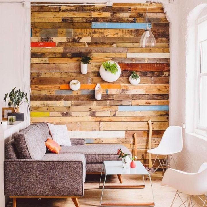 14 Astonishing Wood Pallet Accent Wall Ideas For Your Home Home Ideas Wall Cladding Wood Pallet Wall Pallet Wall