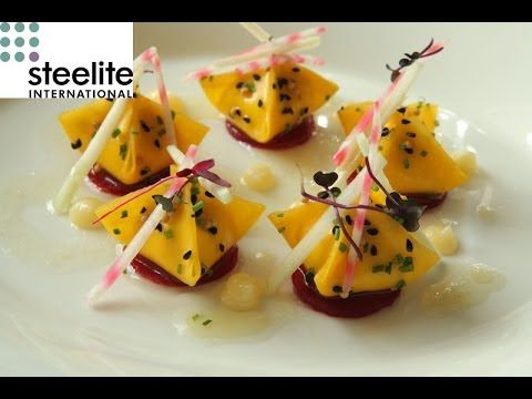 Michelin Star Chef Simon Hulstone creates a beetroot and goats cheese re...