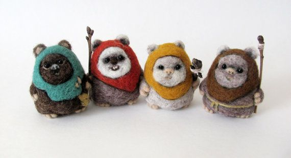 Woooooow!!!! So need to make some of these!   Needle felted Ewok by HandmadeByNovember on Etsy