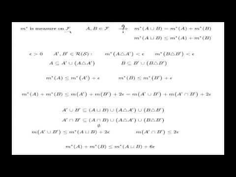 Lebesgue measure extension, part 3 of 4