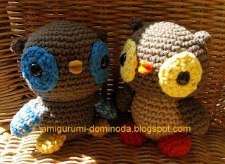 Маленькие совы амигуруми | AmiguRoom