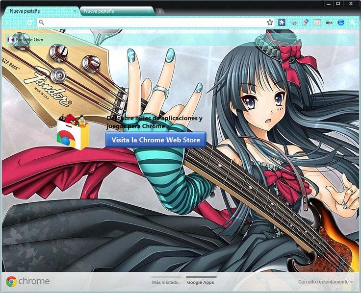 Akiyama Mio Theme For Google Chrome, (1024x768 - 1920x1200). - Portable Own