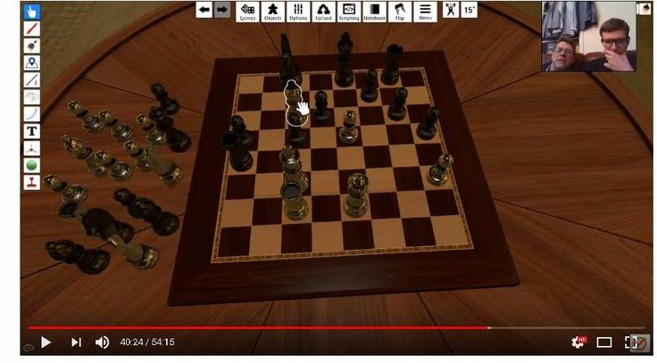Me playing chess with my dad on tabletop simulator.