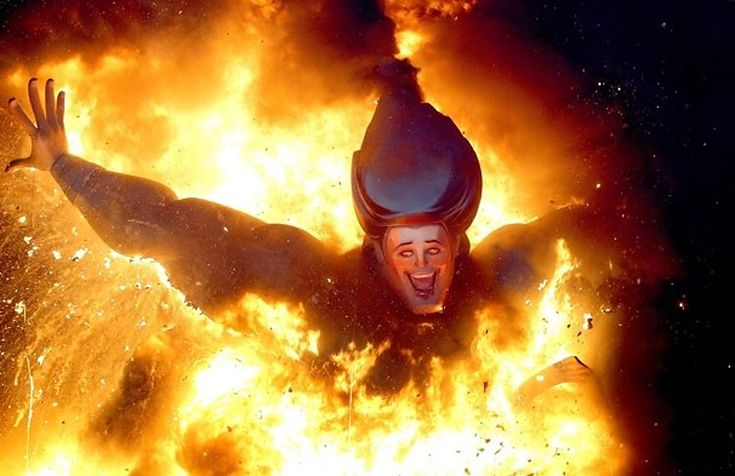 Falles festival in Valencia, Spain. I had no idea they went this far. I went to a Falles party a week ago and jumped over some fire, but not like this...