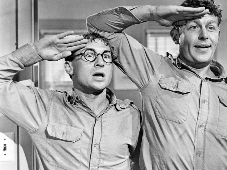 Nick Adams and Andy Griffith in No Time For Sergeants  1958