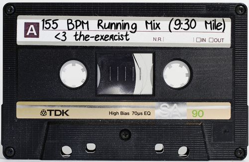 Each song on this running playlist clocks in at 155 beats per minute, helping you stay on track for a 9:30 minute mile