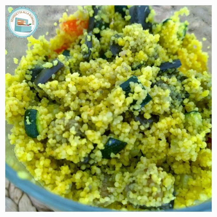Schiscetta alla romana: Cous Cous alla curcuma con verdure miste