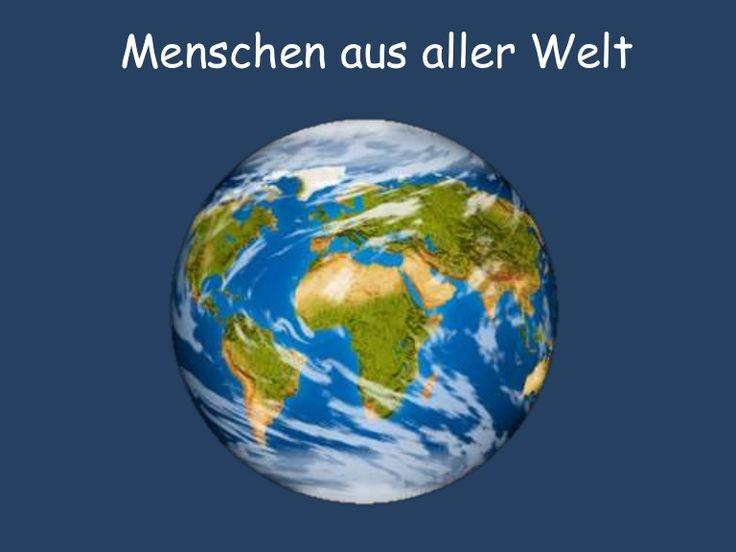 SINGULAR: Woher kommst du? Woher kommt er/sie?  A1 Singular Menschen aus aller Welt